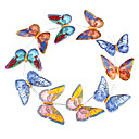 3D Shine Artificial Organza Butterfly - Set of 15 Pieces