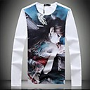 Mens New High Quality Long Sleeve Round Neck T-shirt