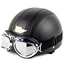 998-1n1 alta calidad casco de motocicleta linda con gafas