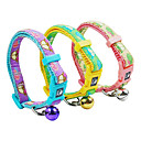 Plastic Buckle Minicar Pattern Small Collar with Little Bell for Dogs (Random Color)