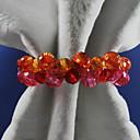 Acrílico Floral Boda Anillo de servilleta Conjunto De 12, Dia 4.5cm