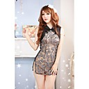 Womens Sexy Lace Mesh Cheongsam  Dress