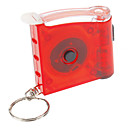 Single-Mode LED Flashlight Key Chain with Tape Measure (3xAG3, Green/Red)