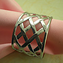 Elegant Napkin Ring Set Of 6, Metal Dia 4.5cm