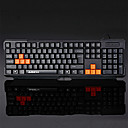ABS/PC Professional Gaming Waterproof Ergonomic Design Wired USB Keyboard