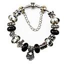 """8.3 """"Regalos de San Valentín Blanco y Negro pulsera de moda europea de la joyería del corazón del amor Adecuados para Pandora Style Pulseras"""