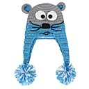 Image For Animal Knitted Earmuffs Cap for Kid's
