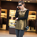 JYS Women's Long Sleeve Loose Fit Fashion Round Collar Causual T-Shirts