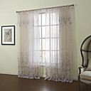 (Two Panels)Graceful Country Liscio Blossoms Sheer Curatin