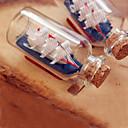 Cristal del recuerdo Botella con pequeña nave interior