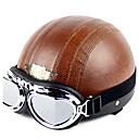 de alta calidad de la motocicleta de la media cara casco con gafas