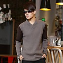 Mens 55% Wool Sweater Sweater V-neck 2 Color Color