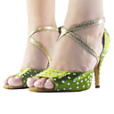 Image For Personalizados de raso superior con cierre de tiras América / baile de salón Zapatos de mujer con diamantes de imitación más colores