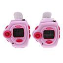 """1.1 """"LCD recargable de moda reloj de pulsera estilo walkie talkie radio de dos vías Set (1 par)"""