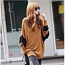 Womens Contrast Color Batwing Blouse