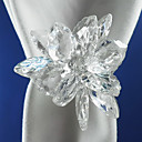 Crystal Napkin Ring Set Of 6, Acrylic Dia 4.5cm