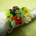 Boda colorida servilleta Anillo Set de 6, perla de los granos del diámetro de 4,5 cm