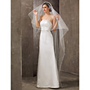 Classical One-tier Cathedral Wedding Veil With Pencil Edge