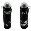 Botella de 650 ml de MTB Mountain Bike PVC de agua con a prueba de polvo del casquillo