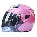 711-2 material abs motocicleta medio casco (con la lente leonado, colores opcionales)