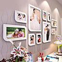 White Aesthete Photo Wall Frame Collection - Set of 10