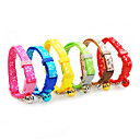 Plastic Buckle Flashing Stars Pattern Small Collar with Little Bell for Dogs (Random Color)