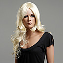 100% Kanekalon japonés sintético larga peluca rizada (Ash Blonde)