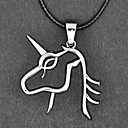 EXO Grupo Lay collar de plata del unicornio Fierce