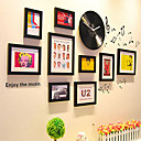 Retro Type Disc Photo Wall Frame Collection - Set of 9