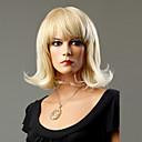 100% Kanekalon japonés sintético corta peluca rizada (Ash Blonde)