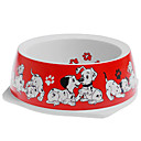 Dog Pattern Plastic Bowl for Pets(Assorted Color)