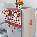 Country Plaid Style Refrigerator Cover Hang Storage Bag