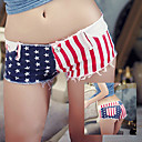 Womens Sexy White National Flag Cowboy Hot Pants