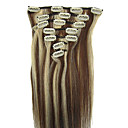 28inch 10pcs/set Indian Remy Hair Clip-in Hair For Full Head 140g(More Colors)