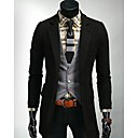Mens Fashion Long Slim Suit