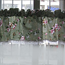"Classic Country floral verde Valance (12 ""L x 57"" W)"