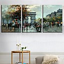 Stretched Canvas Art Landscape Arch of Triumph Set of 3