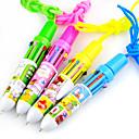 10 colores automático Bolígrafo con la cuerda (color al azar)