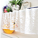 "Elegant Country Floral Hollow Blanco Sólido Valance (12 ""L x 59"" W)"