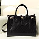 bolso de las mujeres de la moda del tablero de damas n-pai (negro)