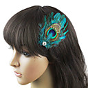 Vintage Blue Feather Fascinator For Women 1 Pc