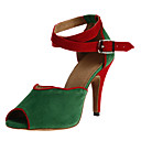 Womens Beautiful Suede Ankle Strap High Heel Latin Ballroom Dance Sandals Dance Shoes
