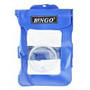 Bingo WP0103 recubierto de PVC azul bolso seco impermeable del caso con lente de las cámaras digitales de la tarjeta (azul, de hasta 20 metros)