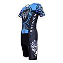 KOOPLUS - Triathlon Azul  Negro Lobo de manga corta y pantalones cortos desgaste Conjoined ropa de ciclo
