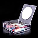 acrílico caja de almacenamiento de cosméticos 1x2 cuadrado transparente con espejo cosmético del organizador