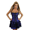 Lace Plastic Boning Corset Shapewear With Skirt(More Colors)