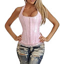 Cotton Corset Shapewear With T-back And Strap