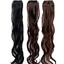 19 pulgadas clip en las extensiones del pelo del pelo sintético Piezas 3 colores disponibles