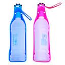 350ml portátil al aire libre de agua de plástico Bebedero para mascotas (colores surtidos)