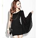 Womens Sexy Strapless Chiffon Skirt European Oblique Bag Body Sleeve Dress